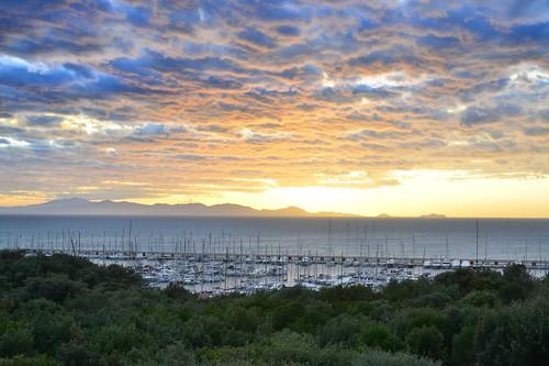 Il porto di Punta Ala al tramonto