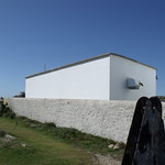 Portland Bill - New Lighthouse - metal object - base for a flag pole