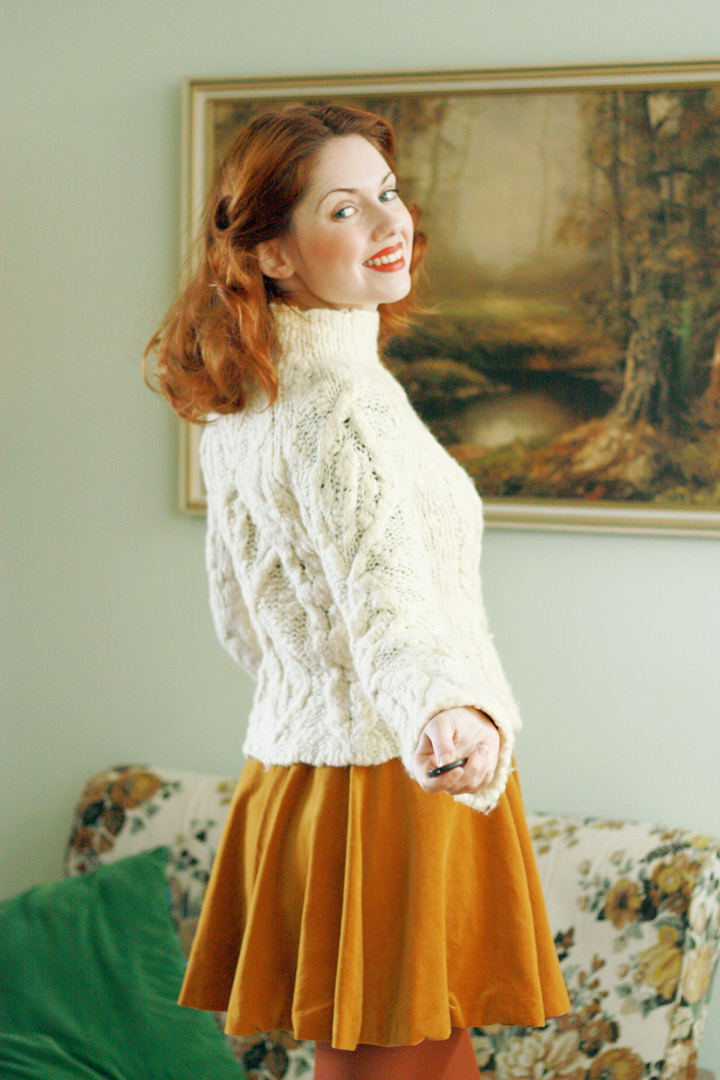 mustard velvet vintage and jumper g