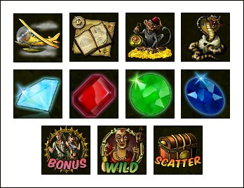 free Relic Raiders slot game symbols