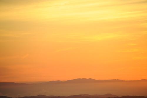 Mt.Diabloからの夕焼け
