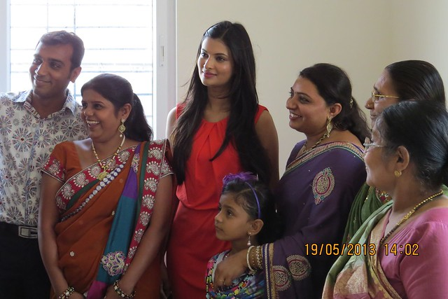 Photo Opportunity with Sayali Bhagat, the brand ambassador of  Atlantica East, 2 BHK & 3 BHK Flats at Keshavnagar, Mundhwa, Pune 411052