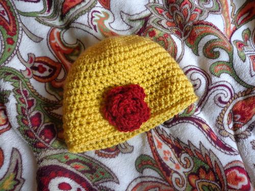 Flowered hat