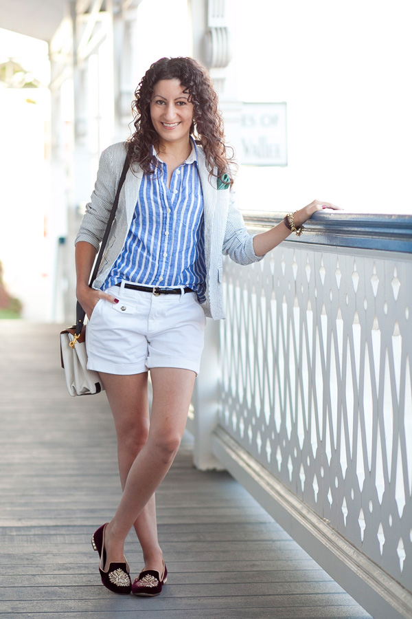 White Shorts & Summer Stripes