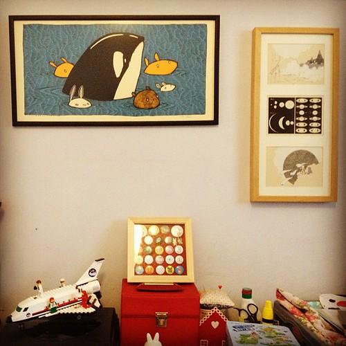 Screen print corner! My Jay Ryan is back home, now hanging next to my @dethpsun prints.