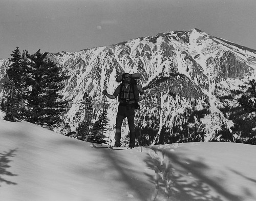 Winter hiking in the Wallowas, 1985