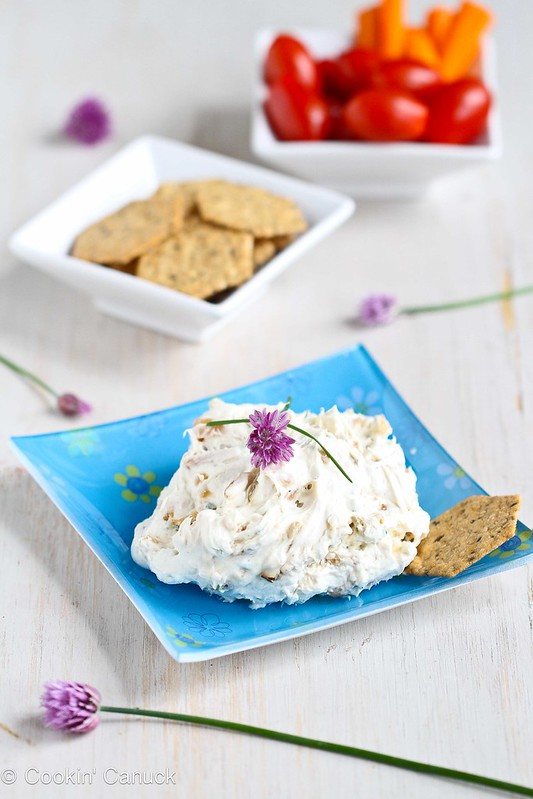Caramelized Onion & Chive Cream Cheese Recipe | cookincanuck.com
