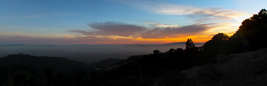 Berkeley Hills Sunset Panorama