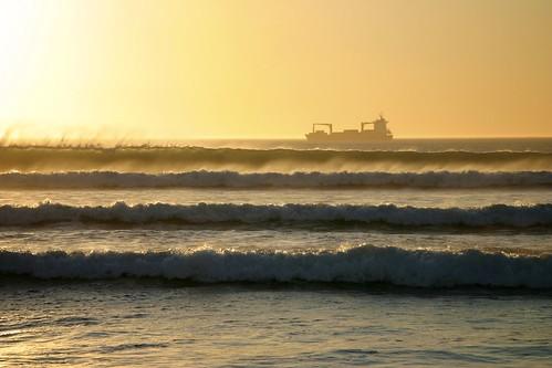 sunset sea southafrica sudafrica