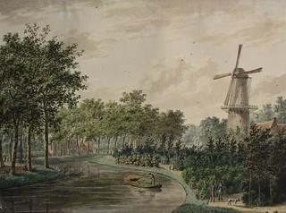 4d Plantsoen met Oranjeboom Zwoudsesingel ca 1840