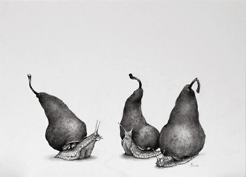Adonna Khare, Pear Snails, 2013