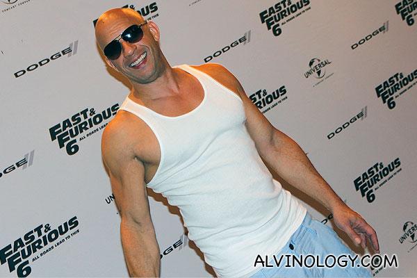 Vin Diesel grinning