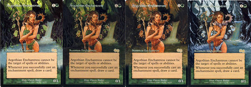Argothian Enchantress Magic the gathering artwork Magic the gathering art mtg altered art Legacy Enchantress