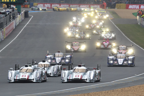 Salida 24 Horas Le Mans 2013