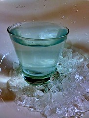 Glass of Water in Ice