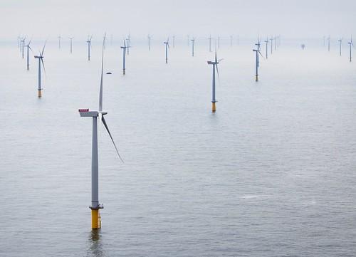 英國倫敦陣列海上風電在泰晤士河口運轉啟用