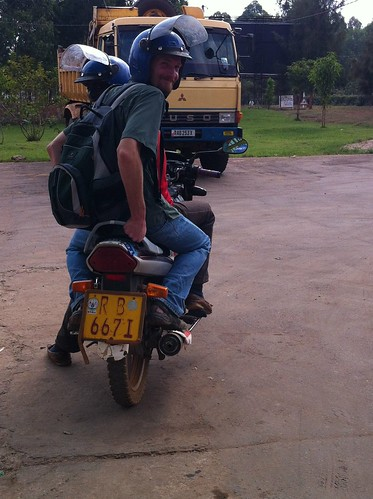 Chris on moto taxi