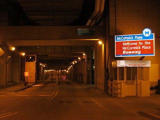 McCormick Place Busway Northern Entrance at Lower Randolph Street Under Millenium Park