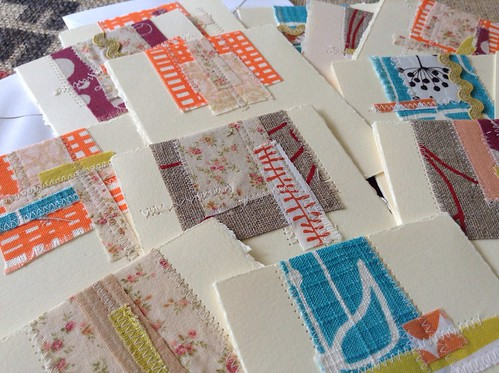 Fabric Scrap Notecards