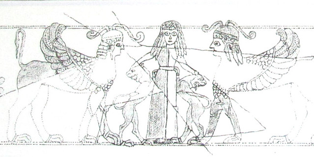 sketch of the Potnia Theron