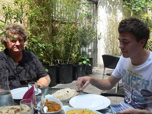 déjeuner chez l'indien