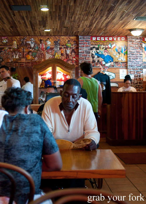 dining room at roscoes house of chicken and waffles in la los angeles
