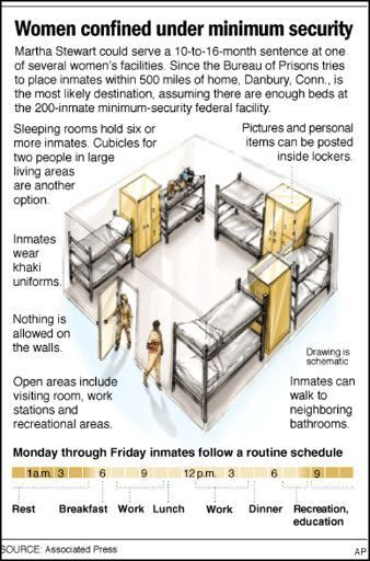 A graphic of a standard prison cell, showing how small it is.