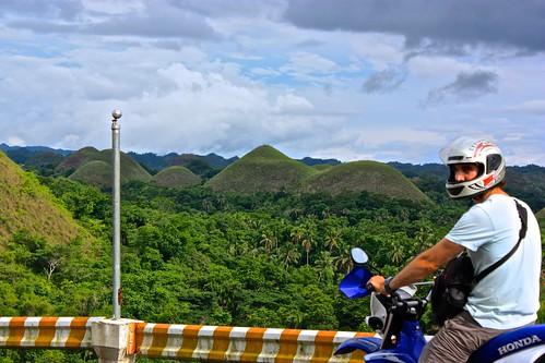 departing the Chocolate Hills via motorbike