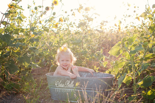 7-22-2013 Abigail bathtub sunflowers-10-1web