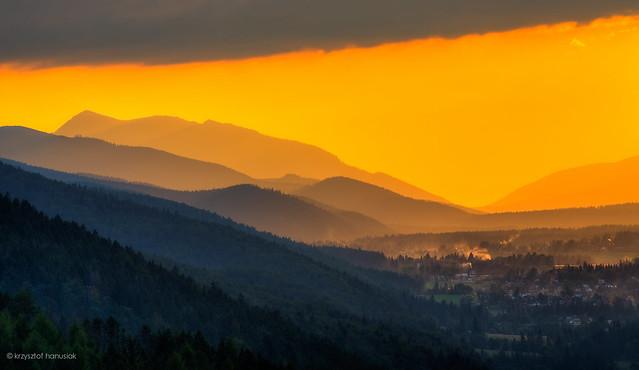 Sunset over Zakopane