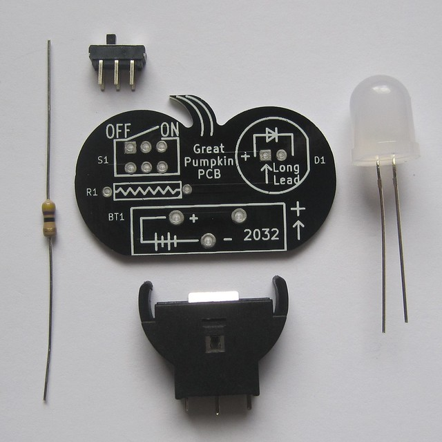 Pumpkin PCB kit parts