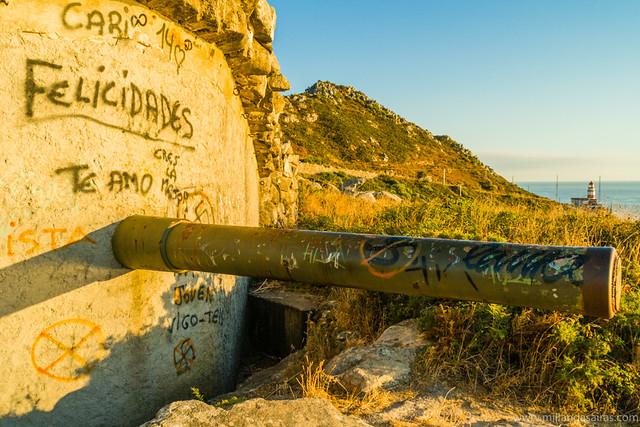 Antiguo puesto de batería militar J4 en Cabo Silleiro