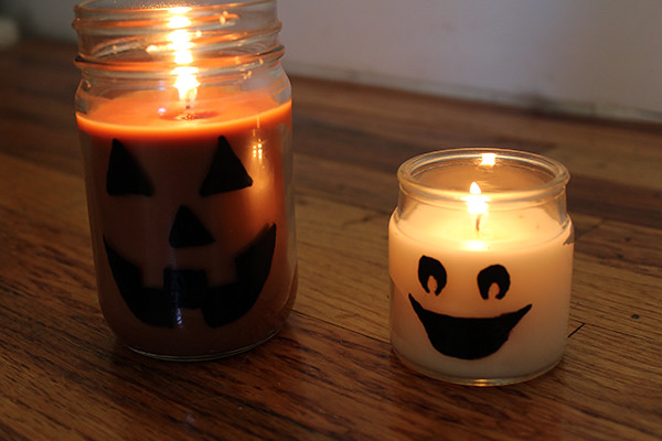 Spooky Halloween D.I.Y. Candles