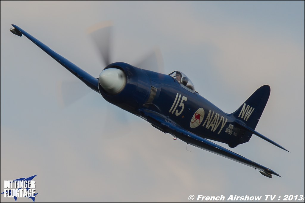 Sea Fury F-AZXJ at Dittinger Flugtage 2013