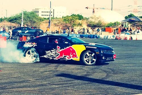 Red Bull Camaro Smoking