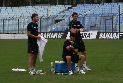 Doug Bracewell, Trent Boult and Tim Southee