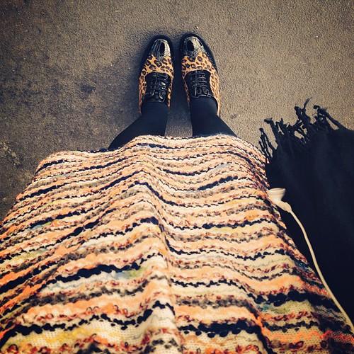 #todayinwearing #wiwt ASOS dress & @clarksshoes brogues #clarksstyle