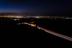 Night Falls on Interstate 10 - Redlands, CA, USA