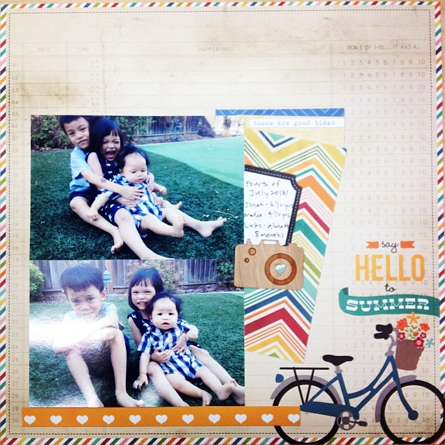 Last one for the day! #scrapbook #scrapbooking #scrapbooklayout #iscrapped #ilovewhatido #ilovethishobby #nsd10k