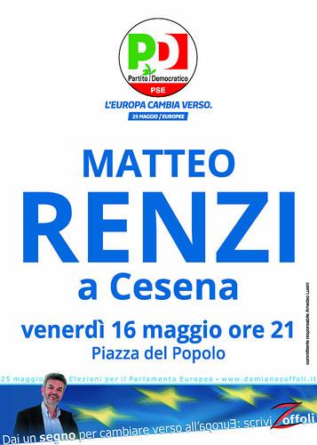 Matteo Renzi a Cesena il 16-05-2014