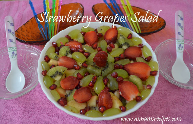 Mixed Fruit / Strawberry Grapes Salad