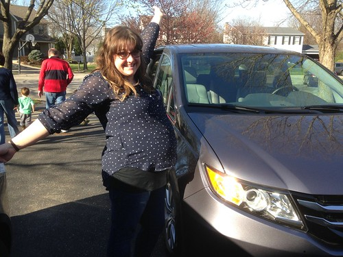 Jen with the New Minivan