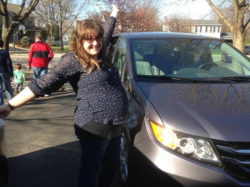 Jen with the New Minivan