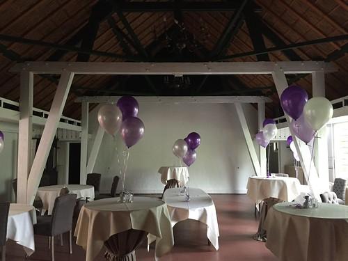 Tafeldecoratie 3ballonnen Ridderhof Maassluis