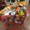 Omg. My cart overfloweth. Two and a half weeks in the road and the cupboards are bare. Guess my @traderjoes bill?! by momfluential