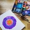 Painting another Mandyla...this is an awesome way of finding tranquility... #mandala #mandyla #watercolor #paintinginprogress #tranquility #watercolour