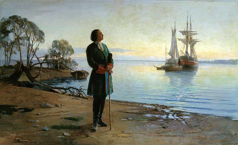 Peter the Great meditating the Idea of building St Petersburg, by Dobrovolskiy