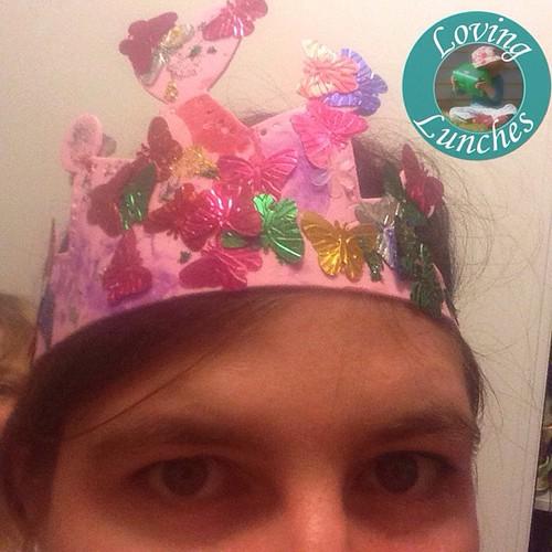 Loving a custom made crown… thank you MissM my sweet 😘