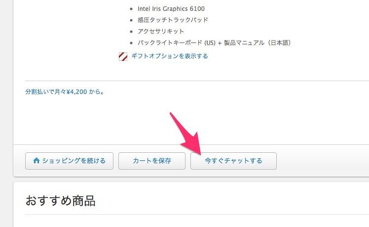AppleStoreのチャット機能