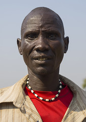Nuer Tribe Man With Gaar Facial Markings, Gambela, Ethiopia